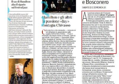 Articoli di La Repubblica e Corriere Della Sera su Jazz Around You
