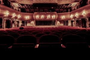 Visuale di un teatro vuoto
