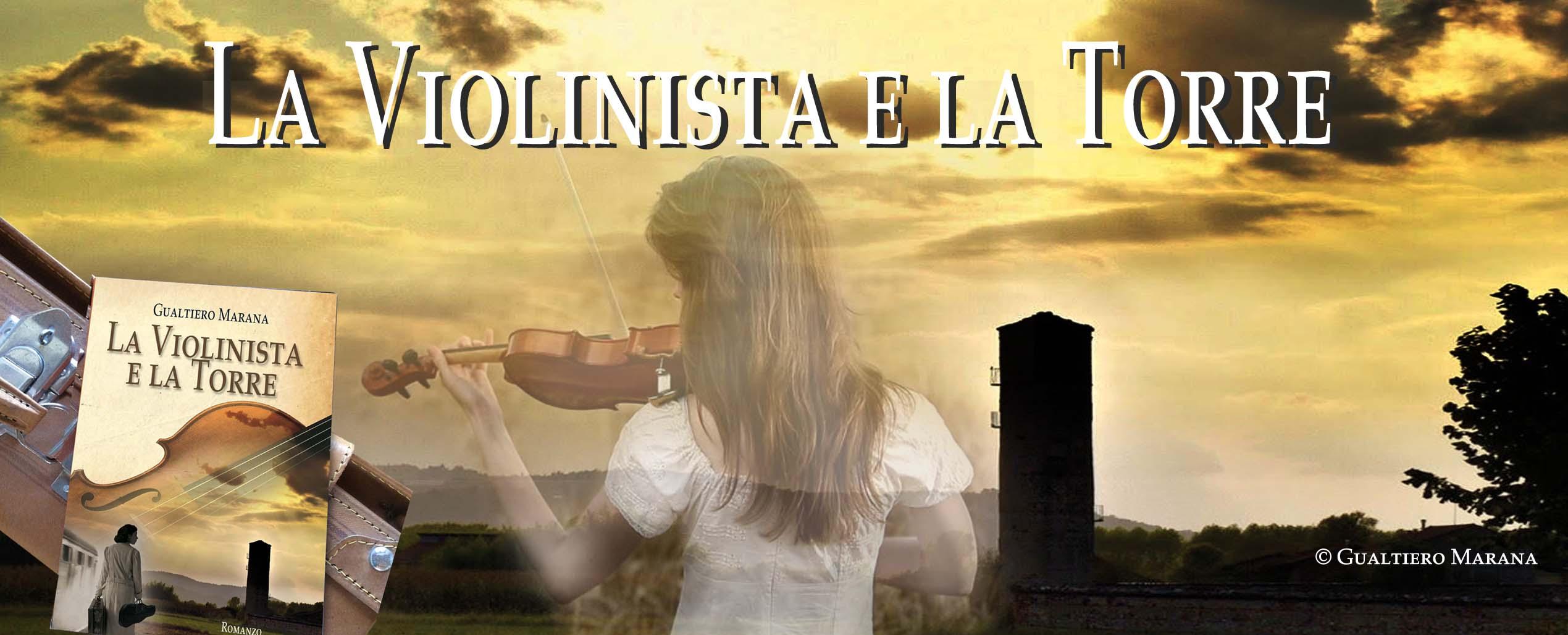 La violinista e la torre-libro